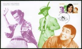 CANADÁ - 2014: mostras James Eugene Jim Carrey carregado 1962, ator, grandes comediantes canadenses da série Foto de Stock Royalty Free