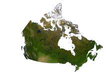 Canadá no fundo branco Fotos de Stock Royalty Free
