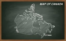 Canadá no quadro-negro Fotos de Stock Royalty Free