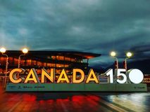 Canada's 150ο στη θέση του Καναδά Στοκ εικόνα με δικαίωμα ελεύθερης χρήσης