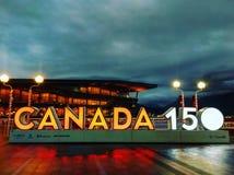 Canada's 150th al posto del Canada Immagine Stock Libera da Diritti