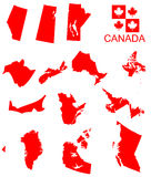 Canada. Provinces of Canada with flag Stock Images