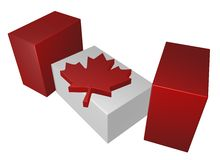 Canada. Pieces of canada flag on white background - 3d illustration Royalty Free Stock Photo
