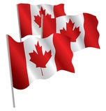 Canada 3d flag. Royalty Free Stock Photo