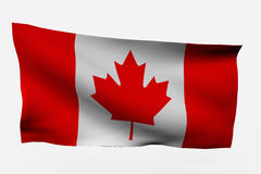 Canada 3d flag Stock Photo