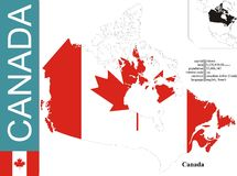 Canada. Flag and area vector illustration royalty free illustration