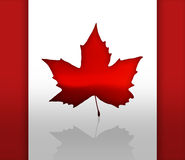 Canada. The Flag of Canada with maple leaves Royalty Free Stock Photography