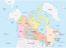 Canada administrative map Stock Images