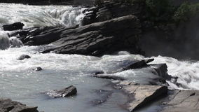 Canada alberta athabasca falls and rocks. Video of canada alberta athabasca falls and rocks stock video