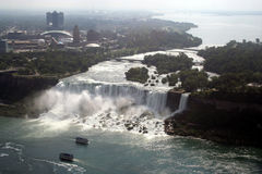 Canada American Falls & boats Royalty Free Stock Photography