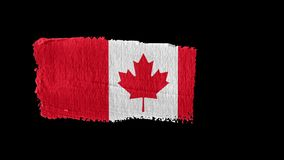 Canada flag painted with a brush stroke. Canada , animation of the flag painted with a brush stroke vector illustration