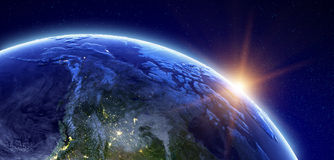 Canada and Arctic. Elements of this image furnished by NASA stock illustration