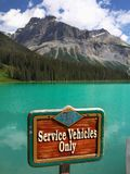 Canada, attraction Emerald Lake, Colombie-Britannique Photo libre de droits