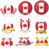 Canada badges. Illustration collection of glossy badges with the flag of Canada Royalty Free Stock Photography