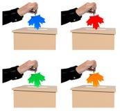 Canada Ballot Votes Stock Photos