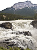Canada banff national park. Waterfall in canada banff national park stock photo