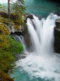 Canada, Banff National Park, Canyon Waterfall River Royalty Free Stock Images
