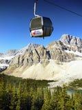 Canada, Banff National Park, Gondola Mountains Scene Royalty Free Stock Images