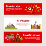Canada banner set Royalty Free Stock Photography