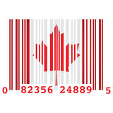 Canada bar code Royalty Free Stock Photography