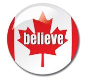 Canada believe button Stock Images