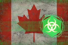 Canada biohazard threat. Biological danger concept. Stock Images