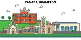 Canada, Brampton. City skyline architecture  Editable Stock Photos
