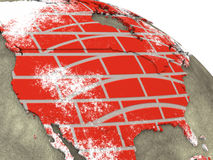 Canada on brick wall Earth Stock Photo