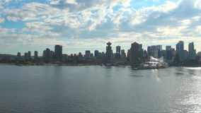 Canada - British Columbia - City of Vancouver - Coastal Seaport City. Port Metro Vancouver - Downtown Vancouver - Burrard Inlet - View looking to the downtown stock video