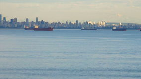 Canada - British Columbia - City of Vancouver - Coastal Seaport City View. Canada - British Columbia - City of Vancouver - Coastal Seaport City - Port Metro stock footage