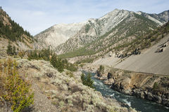 Canada - British Columbia - Fraser Valley - Lytton. Thompson River 10 miles north of Lytton Royalty Free Stock Photo