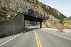 Canada - British Columbia - Fraser Valley - Lytton. Highway outside Lytton at the Thompson River Royalty Free Stock Image