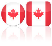 Canada button flag Stock Photo