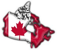 Canada button map flag Stock Photography