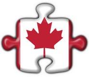 Canada button puzzle flag. Canada button flag - 3d made Stock Photos