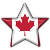 Canada button star flag Stock Photo