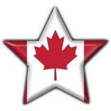 Canada button star flag. Canada button flag - 3d made Stock Photo