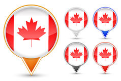 Canada buttons Royalty Free Stock Photo