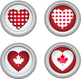 Canada Buttons3 Stock Afbeelding