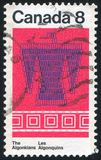 Algonkian Pattern. CANADA - CIRCA 1973: stamp printed by Canada, shows Algonkian Pattern, circa 1973 stock photo