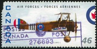 Poststamp. CANADA - CIRCA 1999: stamp printed by Canada, shows aeroplane, Sopwith F1 Camel, circa 1999 stock image
