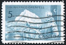 Poststamp printed by Canada stock photography