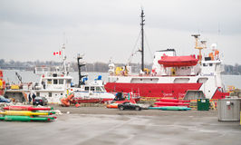 Canada Coast Guard Ships Royalty Free Stock Photography