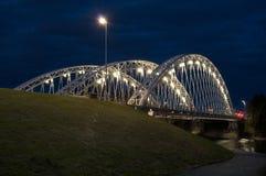 Canada commémoratif d'Ottawa Ontario de pont de Vimy la nuit photo libre de droits