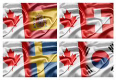 Canada and Countries Stock Photo