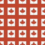Canada country flag symbol maple leaf pattern seamless canadian background freedom vector illustration Stock Photography