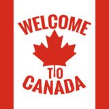 Canada country welcome sign. Canada flag design. Stock Photography