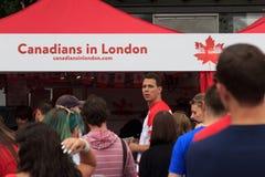 Canada Dag 2017 vieringen in Londen Stock Fotografie