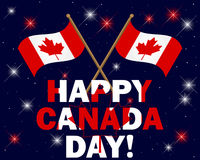 Canada Day . Canada Day background with fireworks, text and flags. Vector illustration Royalty Free Stock Photos