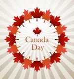 Canada Day. 1 july Canada Day vector background Royalty Free Stock Photos